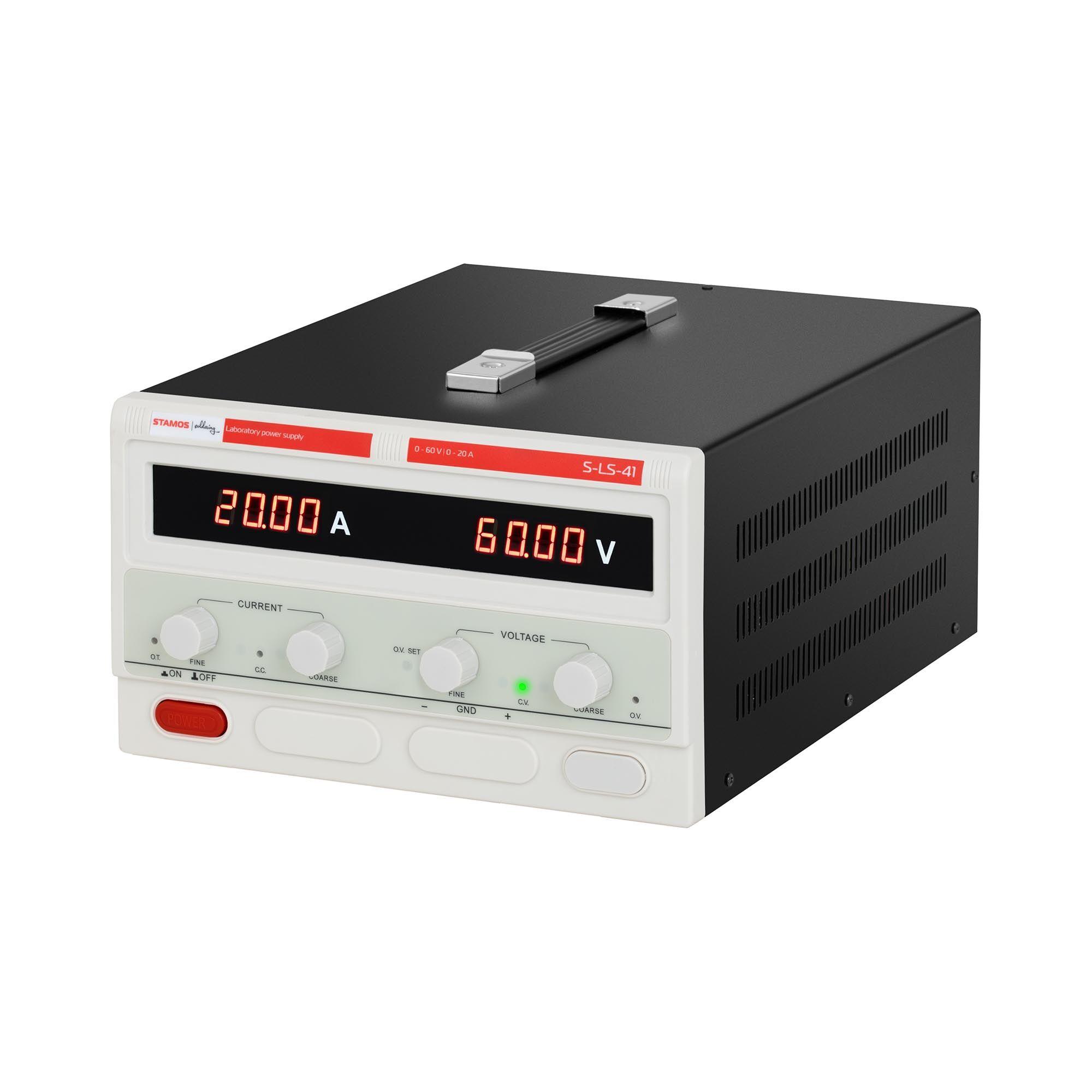 Stamos Soldering Laboratory Power Supply - 0-60 V - 0-20 A DC - 1,200 W S-LS-41