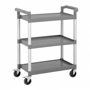 Royal Catering Commercial Plastic Service Trolley - 3 Shelves - up to 60 kg