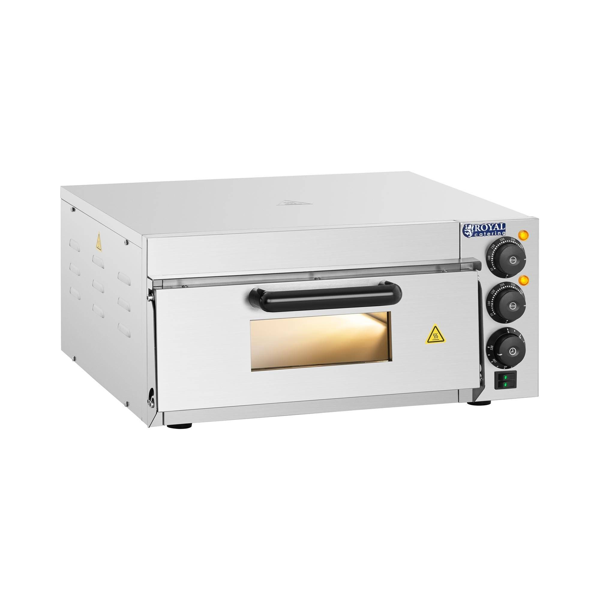 Royal Catering B-WARE Pizza Oven - 1 chamber - 2,000 W RCPO-2000-1PE