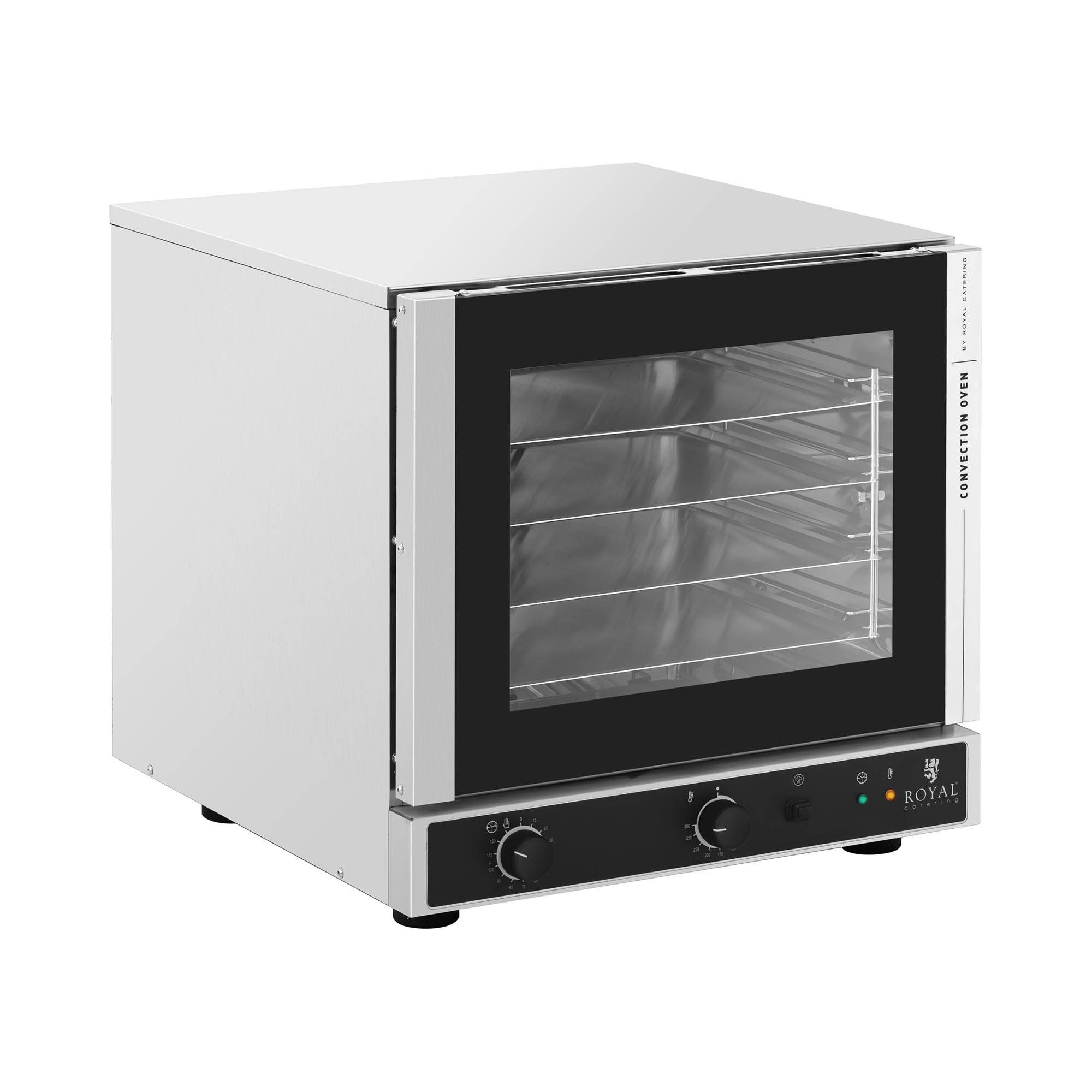 Royal Catering Convection Oven - 2,800 W - steam function - incl. 4 baking sheets (429 x 345 mm) RC-429M