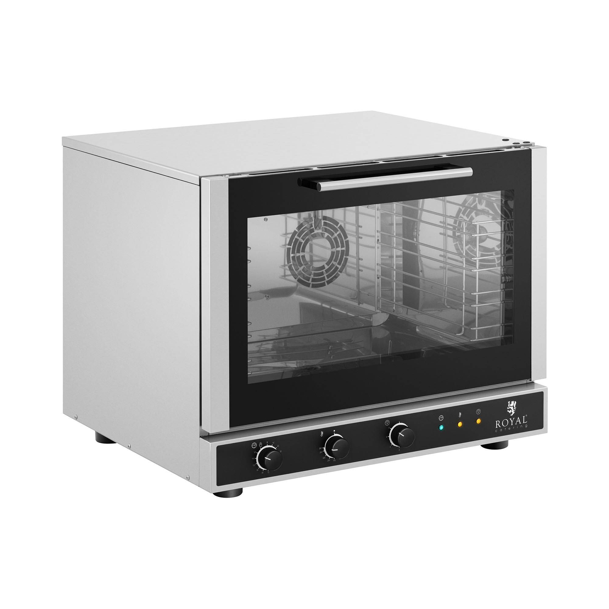 Royal Catering Convection Oven - 6,400 W - steam function RC-411MC