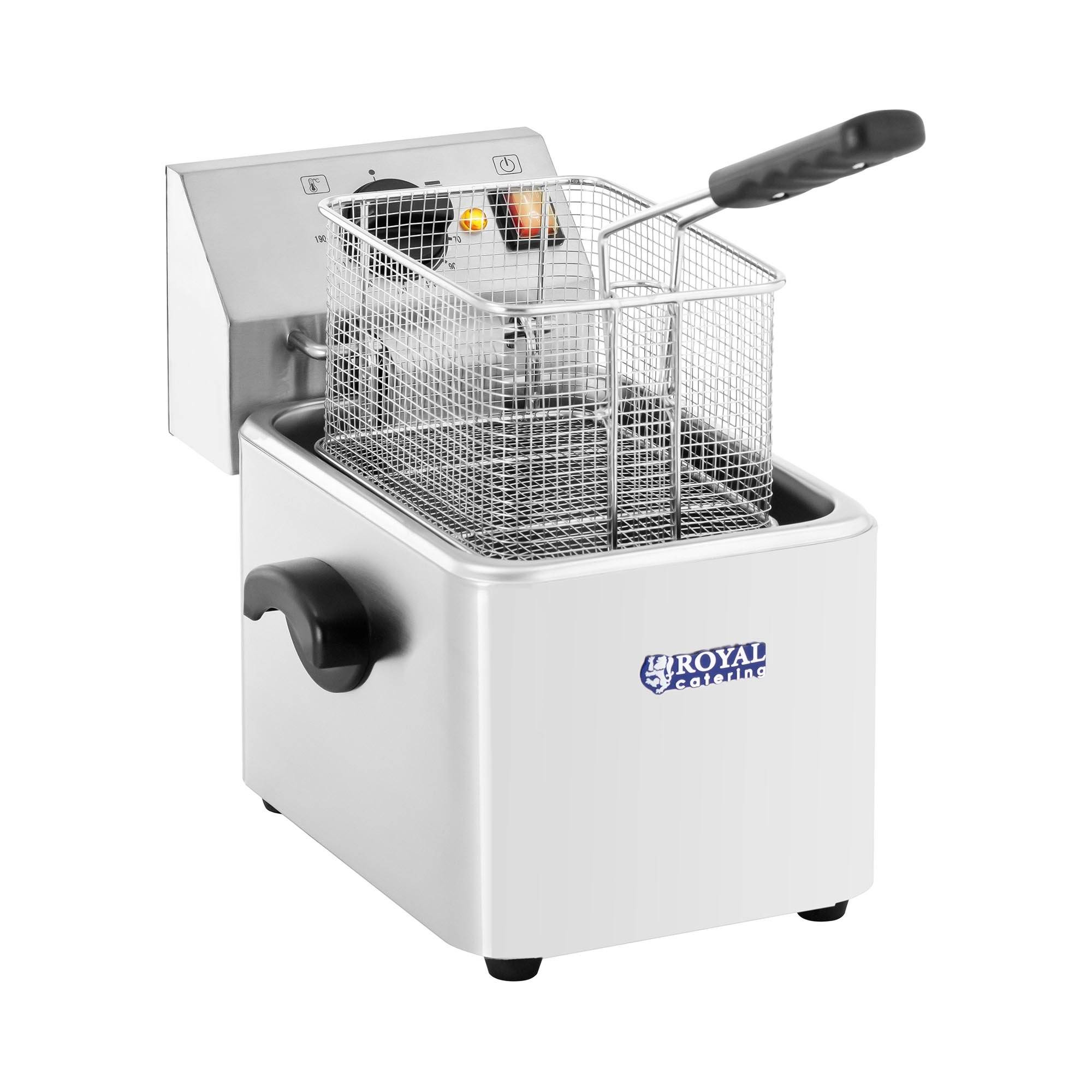 Royal Catering Commercial Electrical fryer - 8 L - EGO Thermostat