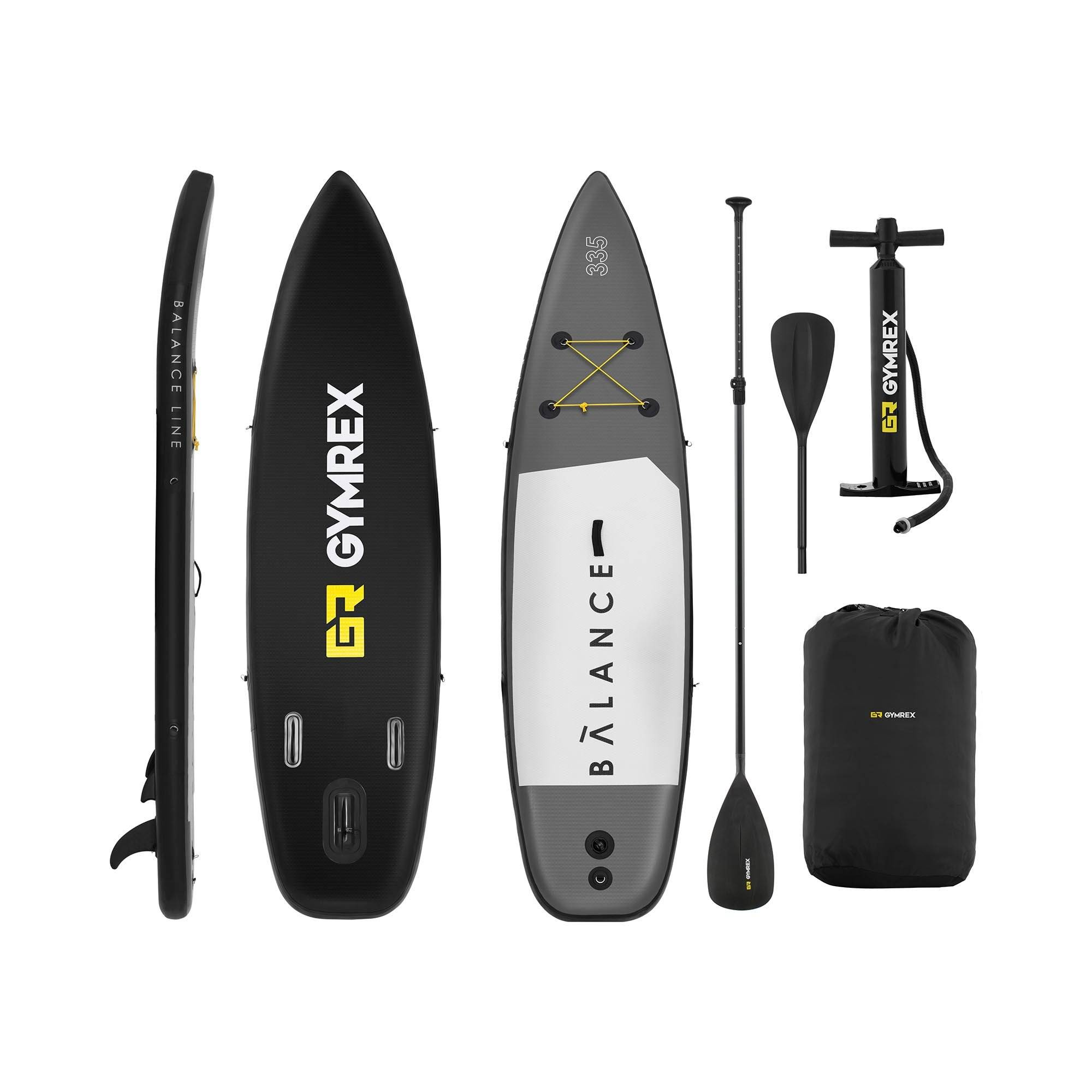 Gymrex Inflatable SUP Board - 145 kg - 335 x 71 x 15 cm GR-SPB335
