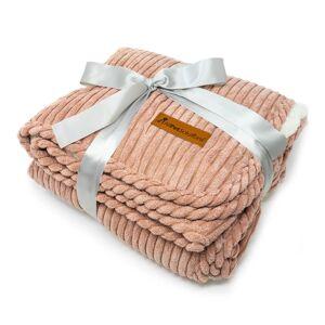 AllPetSolutions Luxury Dog Puppy Cat Blanket Throw Rose Pink 120x85cm