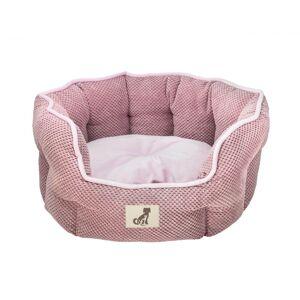 AllPetSolutions Alfie - Pink Soft Dog Bed  - Size Large