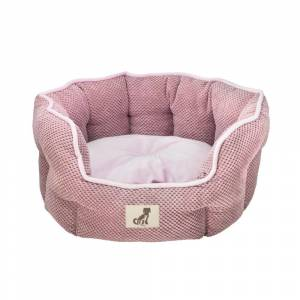 All Pet Solutions Alfie - Pink Soft Dog Bed  - Size Large