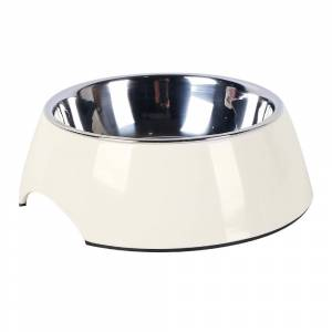 AllPetSolutions White Stainless Steel Dog Bowl Size 22 x 7.5cm