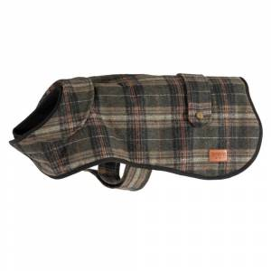 Ancol Heritage Collection Green Check Coat - Medium