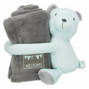 Trixie Puppy Plush Bear Cuddly Set Grey / Mint 75 x 50 cm