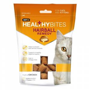 VETIQ Hairball Remedy Healthy Bites for Cats & Kittens 65g-8 Packs