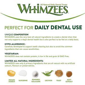 Whimzees Natural Dog Treat Stix Medium  (Pack of 100)