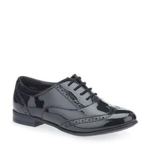 Start-Rite Shoes Matilda, Black patent girls lace-up closed school shoes  - colour: Black