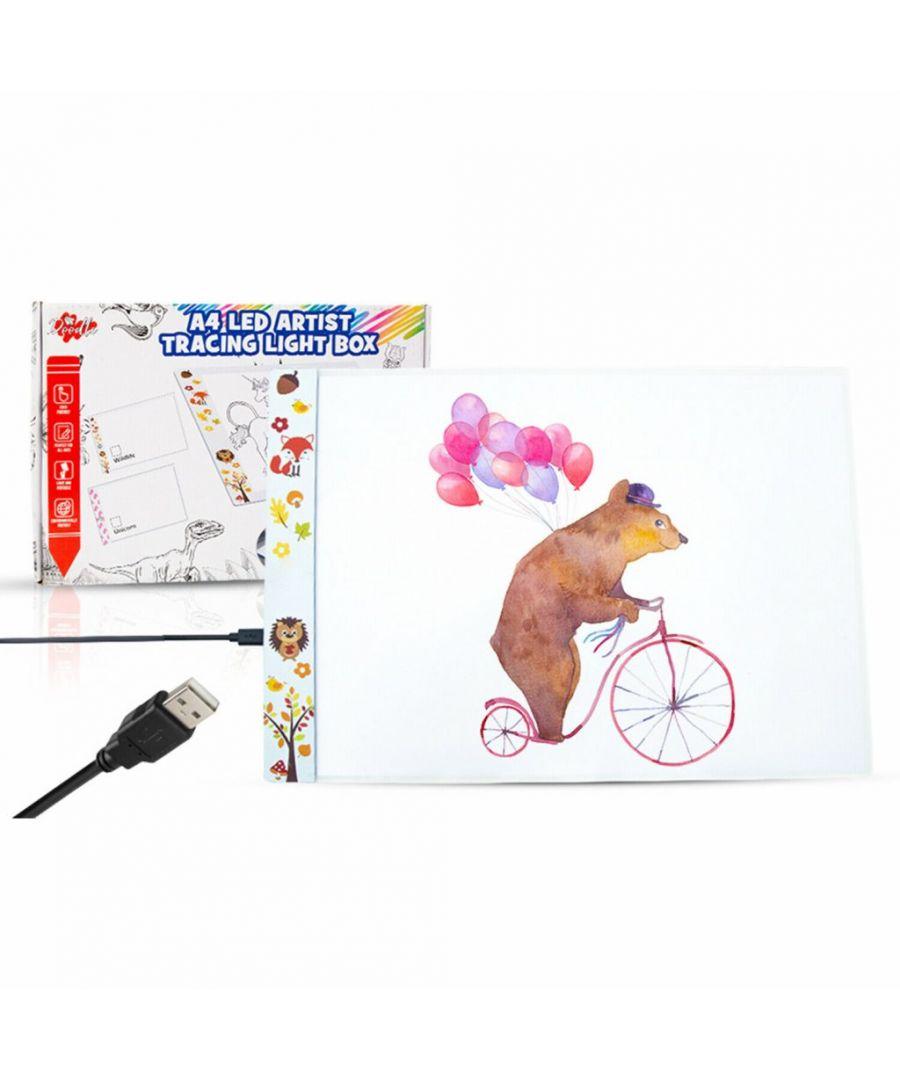 Doodle A4 LED Art Light Box With Brightness Wildlife  - Size: One Size