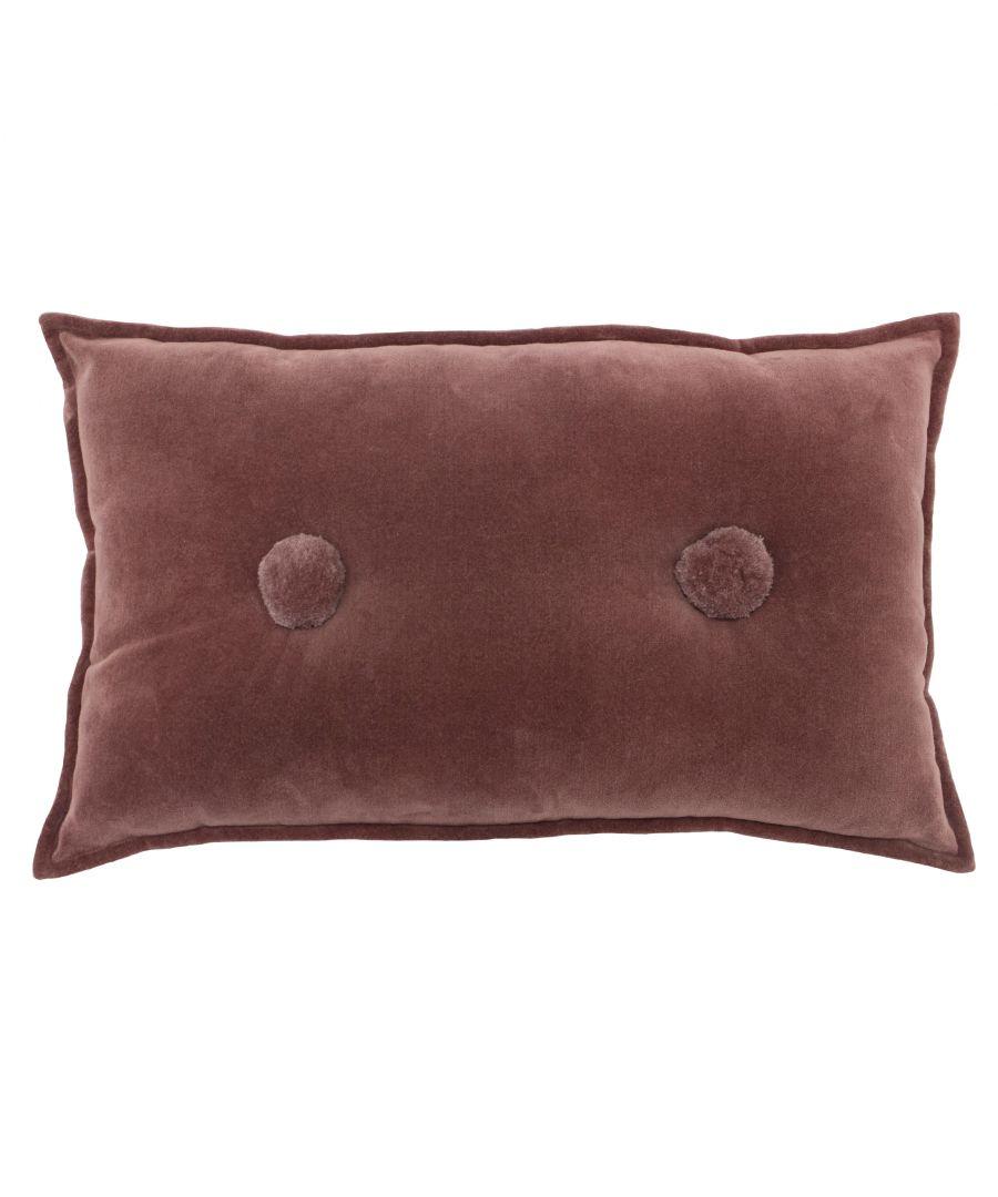 furn. Bobble 30X50 Pf/Cushion Rock Ros Cotton - One Size