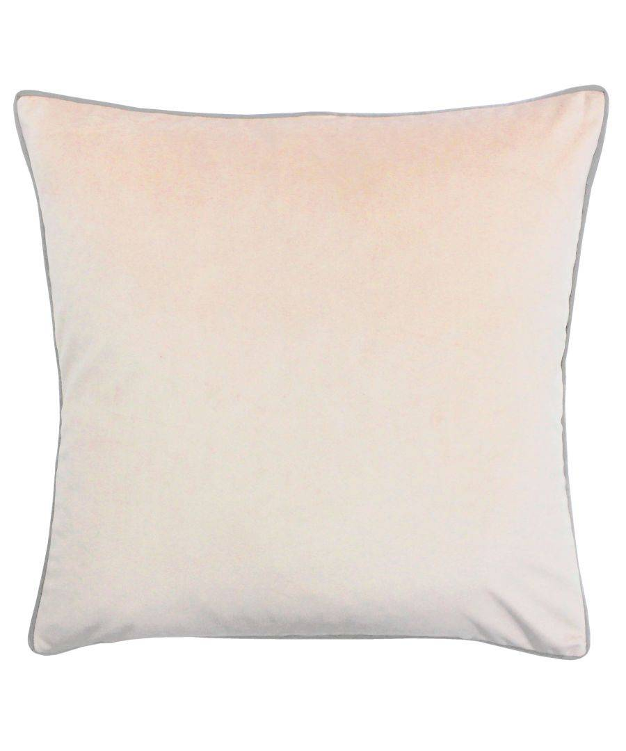 Riva Home Meridian 55X55 Poly Cushion Bls/Gry  - Blush - Size: One Size