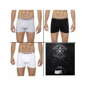 Ufford & Suffolk Polo Club Mens Three pack boxer trunk US100 - Multicolour - Size X-Large