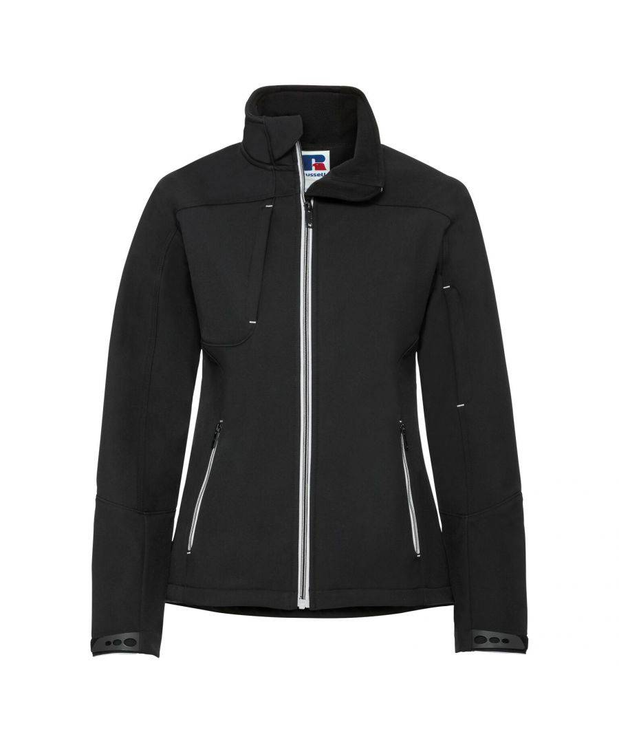 Russell Athletic Womens Women/Ladies Bionic Softshell Jacket (Black) - Size S