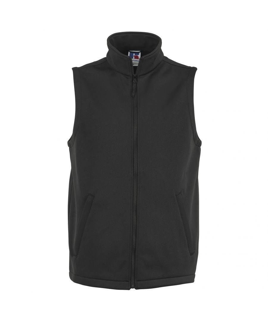 Russell Athletic Mens Smart Softshell Gilet Jacket (Black) - Size S