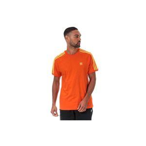 Adidas Originals Men's adidas 3-Stripes T-Shirt in Orange  - Orange - Size: Small