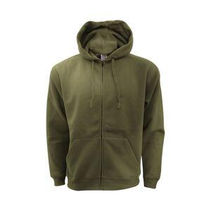 Fruit of the Loom Of The Mens Zip Through Hooded Sweatshirt / Hoodie  - Green - Size: Small