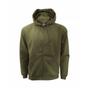 Fruit of the Loom Of The Mens Zip Through Hooded Sweatshirt / Hoodie  - Green - Size: Small