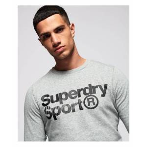 Superdry Core Sport Crew Sweatshirt  - Grey - Size: Small