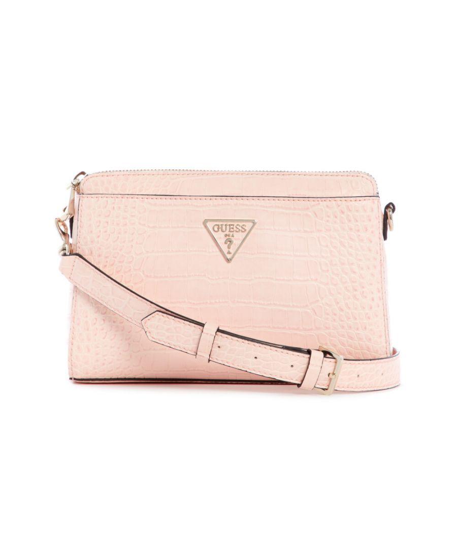 Guess Womens WoMens Maddy Girlfriend Crossbody Cross Body Bag - Peony Pink - One Size