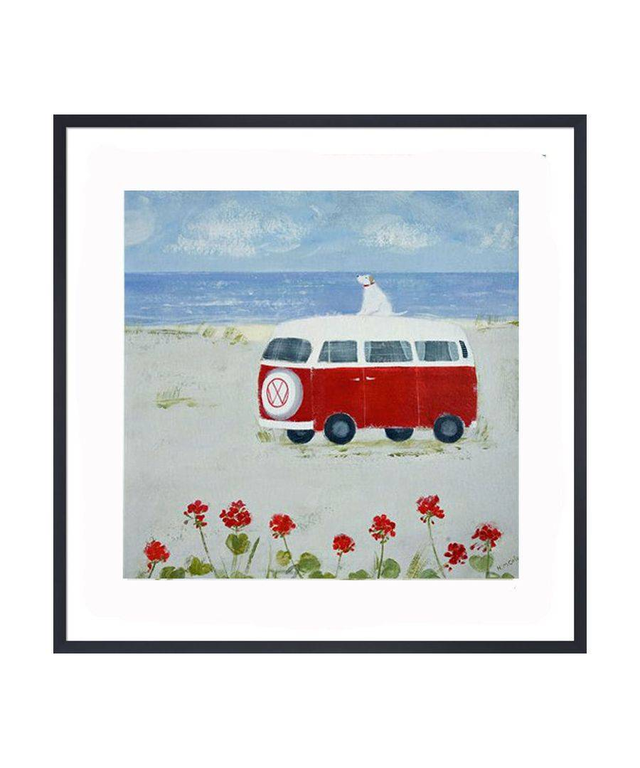 The Art Guys Red Camper Print by Hannah Cole  - Size: One Size