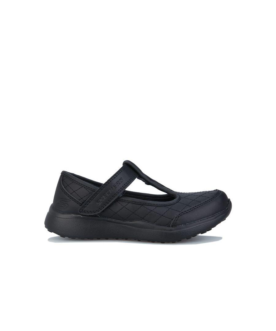 Skechers Girls Girl's Children Microstrides School Shoes in Black - Size 10 Child