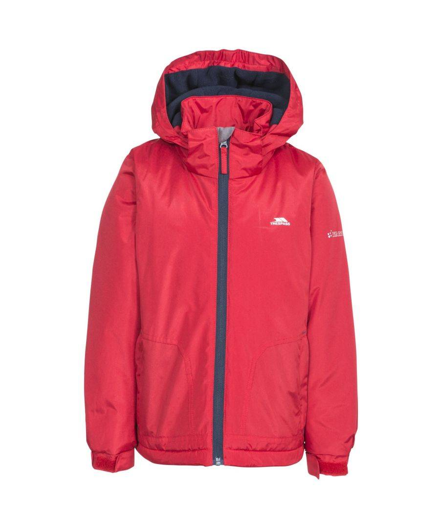 Trespass Childrens Boys Rudi Waterproof Jacket  - Red - Size: 5-6Y