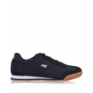 Lonsdale Mens Lambo Trainers Low Top Laced Sport Shoes Footwear Brand New - Navy - Size 9