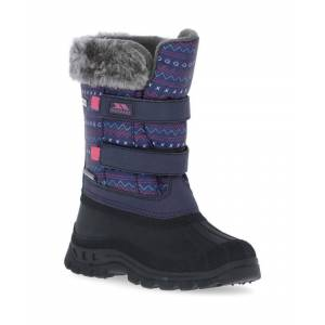 Trespass Boys & Girls Vause Waterproof Insulated Winter Snow Boots - Purple - Size 11