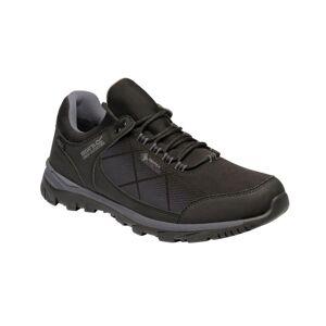 Regatta Mens Highton Stretch Waterproof Walking Shoe - Black - Size 8