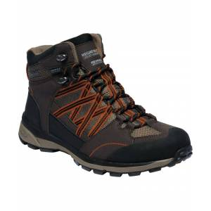 Regatta Mens Samaris Mid II Waterproof Seam Sealed Walking Boots  - Brown - Size: 12