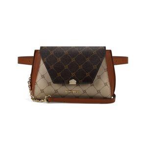 Nine West Womens WoMens Ridgewood Crossbody Belt Bag Bum - Logo Multi Beige - One Size