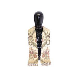 Dolce & Gabbana Mens Scarf Beige Silk Necktie Baroque Pattern - Multicolour - One Size