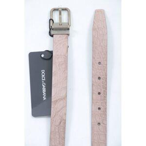 Dolce & Gabbana Mens Men Leather Belt - Beige - Size 85 cm