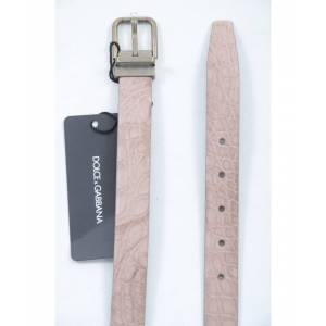 Dolce & Gabbana Mens Men Leather Belt - Beige - Size 105 cm