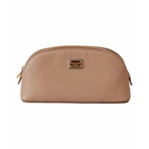 Dolce & Gabbana Womens Beige Toiletry Women Leather Hand Purse Pouch - Multicolour - One Size