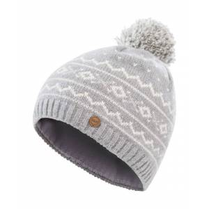 Trespass Mens Holbray DLX Merino Knitted Pom Beanie - Grey - One Size