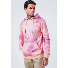 Hype Mens Hawaii Half Pullover Hoodie - Pink - Size X-Small