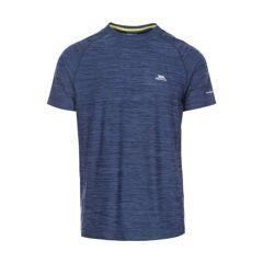 Trespass Mens Gaffney Short Sleeve Wicking Fitness Running T-Shirt - Navy - Size 2XS