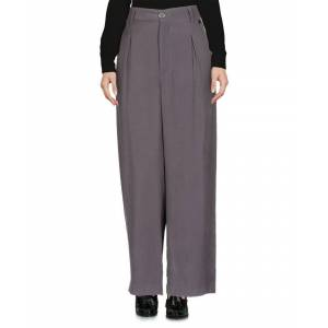 Cafènoir Womens Lead Twill Wide Leg Tailored Trousers - Grey Viscose - Size Small