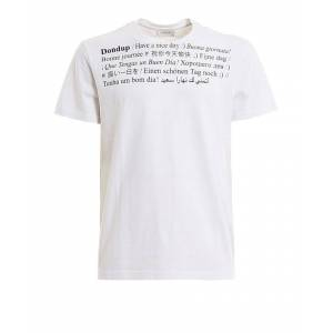 Dondup DONDUP MEN'S US198JF0234UZA6000 WHITE COTTON T-SHIRT  - White - Size: Medium