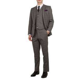 Ted Baker Betrew Sterling Check Waistcoat, Grey  - Grey - Size: 38R