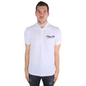 Philipp Plein Fine MTK0052 0102 Polo Shirt  - White - Size: Medium
