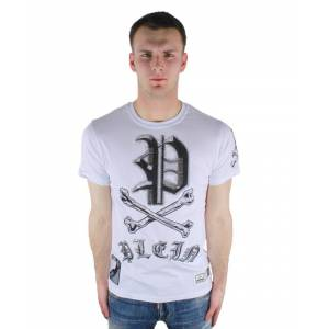 Philipp Plein Mint MTK0306 01 T-Shirt  - White - Size: Medium