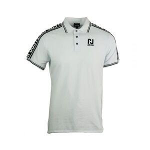 Just Cavalli Sports Logo White Polo Shirt  - White - Size: Medium