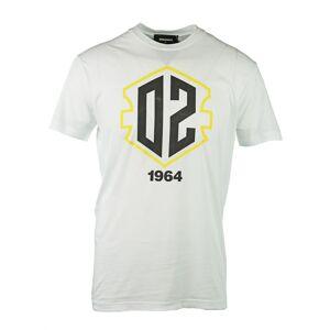 Dsquared2 DSquared2 S71GD0683 S21600 100 T-Shirt  - White - Size: Medium
