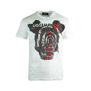 Dsquared2 Very Dan Fit White T-Shirt  - White - Size: Medium